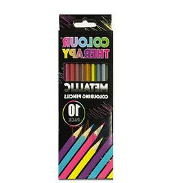 10Pc METALLIC COLOUR PENCIL IN BOX + GOOD QUALITY + Art/Arti