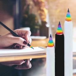 1x Rainbow Color Wooden Art Pencils Drawing Painting Sketch