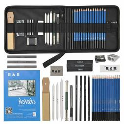 36pcs Art Supplies Graphite Drawing Pencils Sketch Set Full