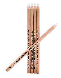 5 WHITE CHARCOAL PENCILS FOR ART GRAPHICS SKETCHING DESIGN D