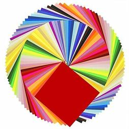 Caydo 50 Vivid Colors 200 Sheets Single Sided Origami Paper