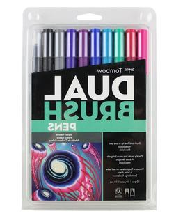 Tombow 56188 Dual Brush Pen Art Markers, Galaxy, 10-Pack. Bl