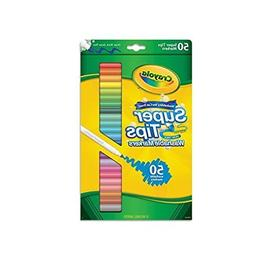 Crayola 585050 Washable Super Tips Markers with Silly Scents