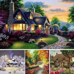 5D DIY Diamond Embroidery Painting Dream Cottage Art Craft S