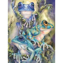 5D DIY Full Drill Diamond Painting Animals Frog Cross Stitch