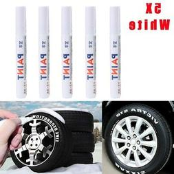 5X Permanent Marker Pens Oil Based Paint Car Tire Ink White