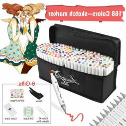 80 168 218 Color Markers Pen Graphic Art Sketch Twin Tips An