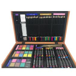 Darice 80-Piece Deluxe Art Set Art Supplies For Drawing Pain