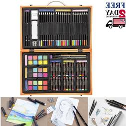 80pc Art Supplies Lot Colored Pencils Professional Drawing S