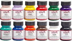 Angelus starter Kit leather and shoe paint set of 12 1oz bot