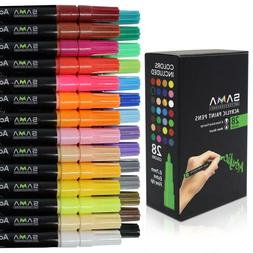 Acrylic Paint Pens-Set of 28 Premium Markers Extra Fine Tip