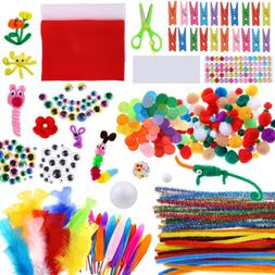 Art And Craft Kit Supplies Include Pipe Cleaners Pom Poms Fe