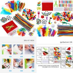 Caydo Art And Craft Kit Supplies Include Pipe Cleaners, Pom