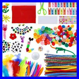 Art & Craft Kit Supplies Include Pipe Cleaners Pom Poms Feat
