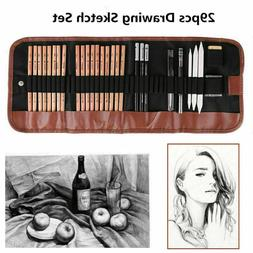 Art Supplies Graphite Drawing Pencils Sketch Set 29pcs Full