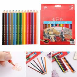 Art Supplies Sketch Colorful Wooden Color Pencils Painting O