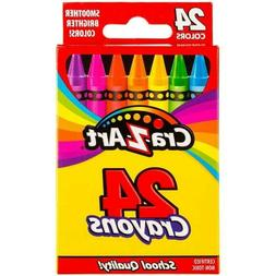Cra-Z-Art 24 colors Crayons Kids School Supplies Non-Toxic N