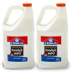 Elmer's Liquid School Glue, Washable, 1 Gallon, 2 Count - Gr