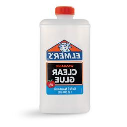 ELMERS 2024691 Elmer's Liquid School Glue, Clear, Washable,