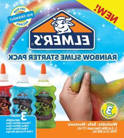 Elmer's Rainbow Slime Starter Kit with Green, Blue and Red