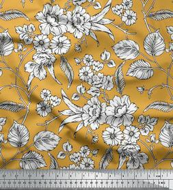 Soimoi Floral Printed 115 GSM 58 Wide Viscose Rayon Sewing F