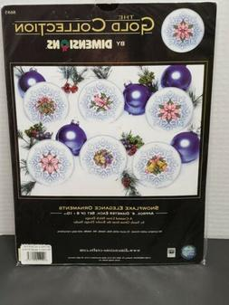 DIMENSIONS Gold Collection Snowflake Elegance Ornaments Cros