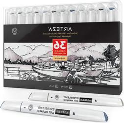 ARTEZA Gray Tone Alcohol Based Everblend Art Markers Set of