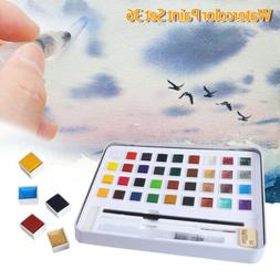 H&B 36 Solid Colors Glitter Watercolor Paint Kit Beginners P