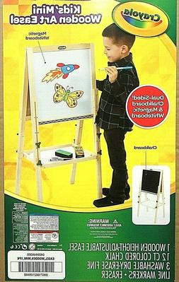 Kids Double Sided Wooden Art Drawing Easel Whiteboard, Chalk
