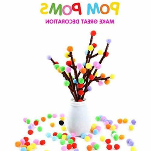 Caydo 1000 inch Arts and Crafts Pom Poms for
