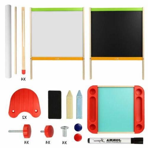"""15*44"""" Kids Wooden Easel Adjustable Drawing Writing Board"""