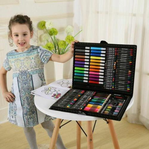 168pc Art Drawing Set Kit For Childrens Teens Paint Pencil