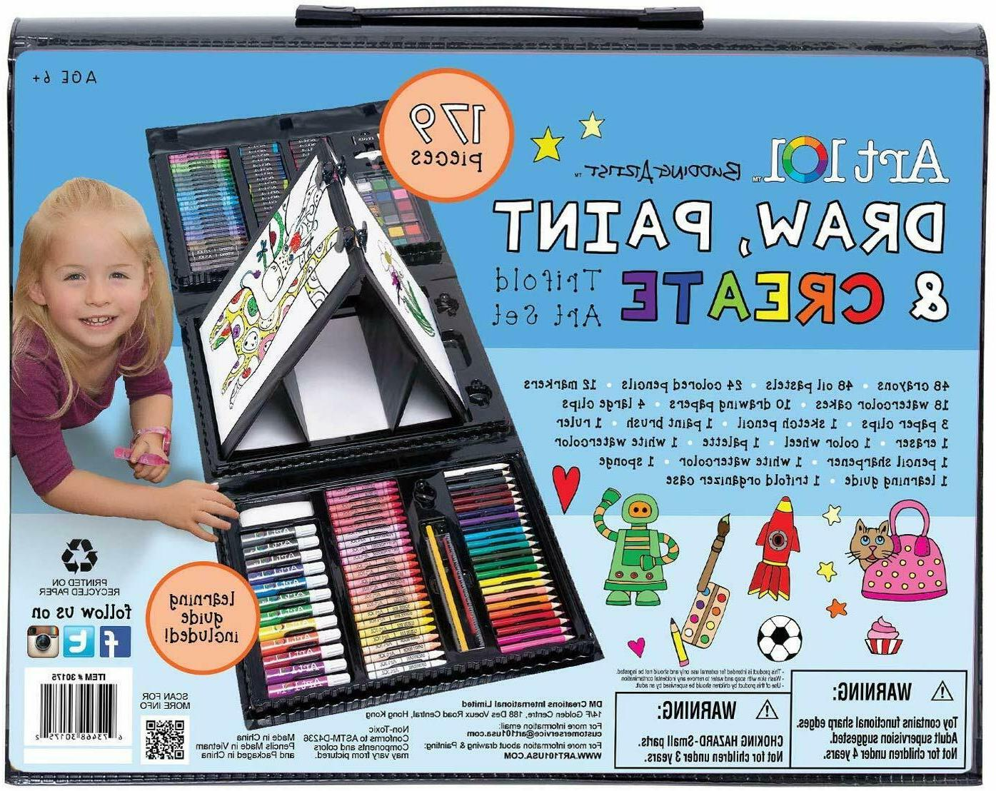 179 For Gifts Supplies Drawing Painting Trifold Kit