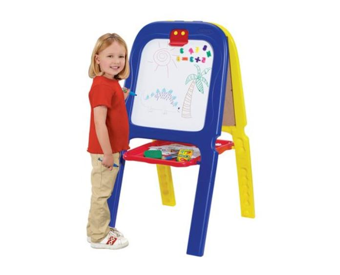 3in1 Magnetic Double-Sided Art Easel 77 Letters Numbers Kids
