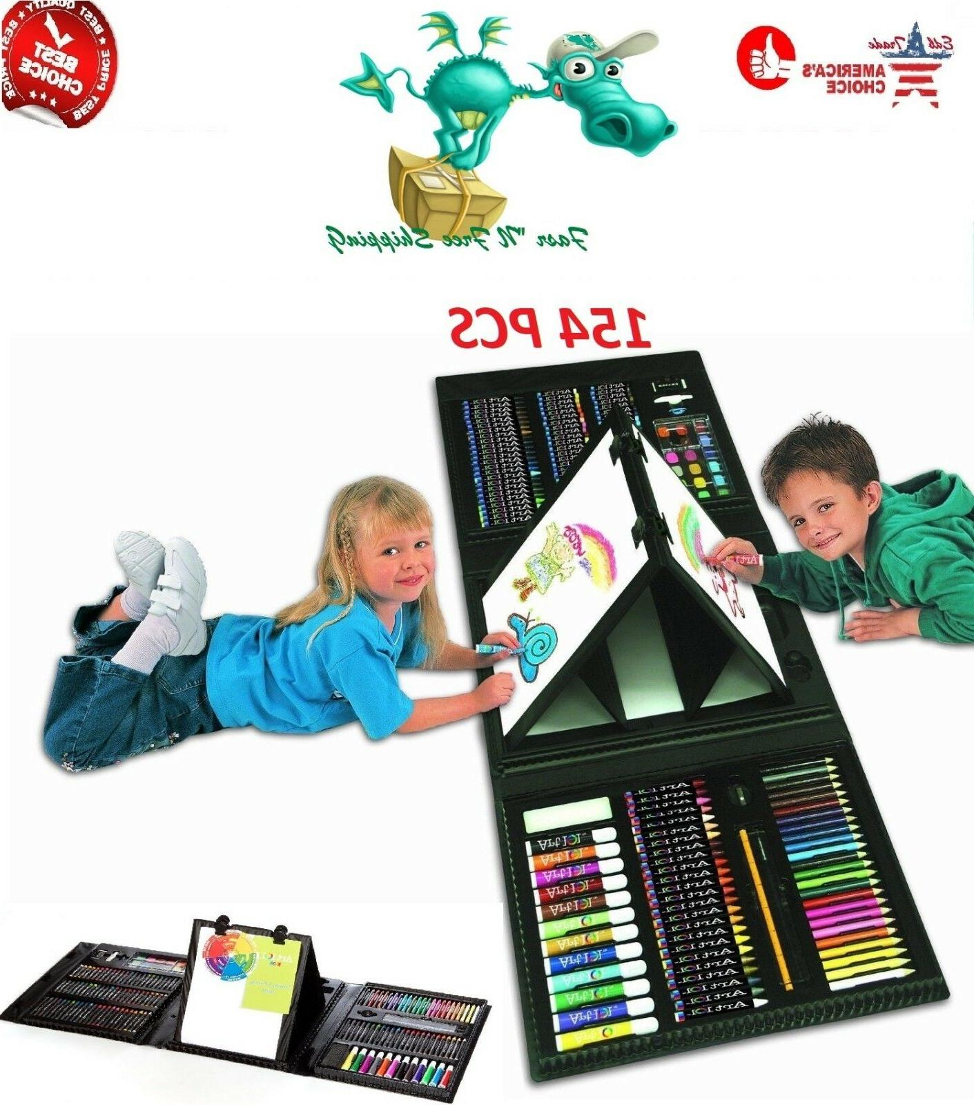 Art Set For Kids Gifts 154 Piece Supplies Drawing Painting C