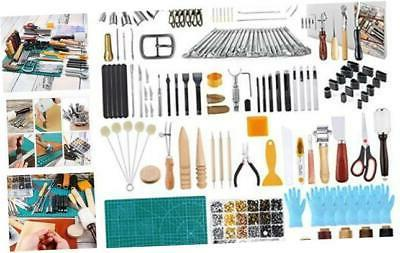 caydo 428 pieces hand leathercraft working tool