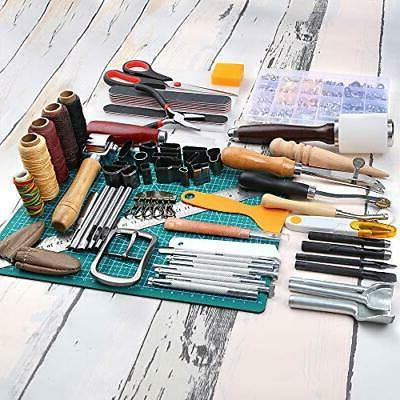 Caydo 428 Pieces Leathercraft Kit with