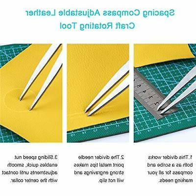 Caydo Leather Working Kit with Beginners, Adjustab