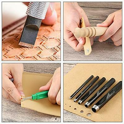 Caydo Leather Working Kit with Professional for Beginners, Adjustab