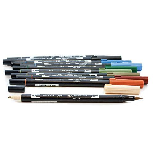 Tombow 56169 Brush 10-Pack. Blendable, and