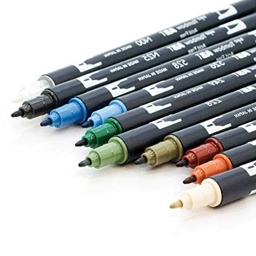 Tombow 56169 Pen Markers, 10-Pack. Fine Tip Markers