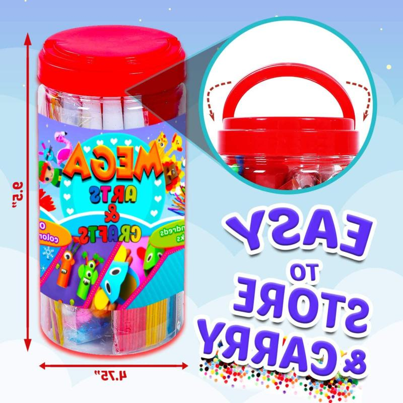 GoodyKing and Supplies for Kids - Craft Art Supply Jar Kit for