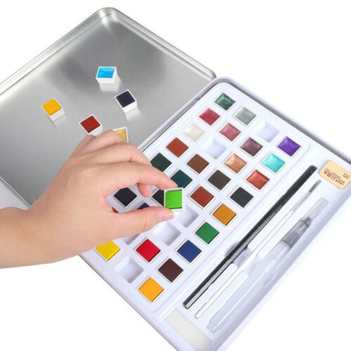 H&B Solid Glitter Watercolor Kit Beginners Painting Art