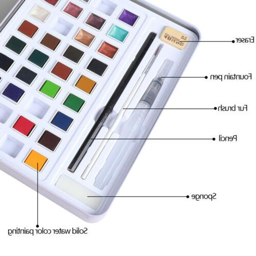H&B Solid Glitter Watercolor Paint Beginners Painting