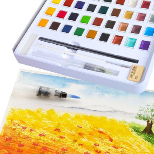 H&B 36 Solid Glitter Watercolor Beginners Painting