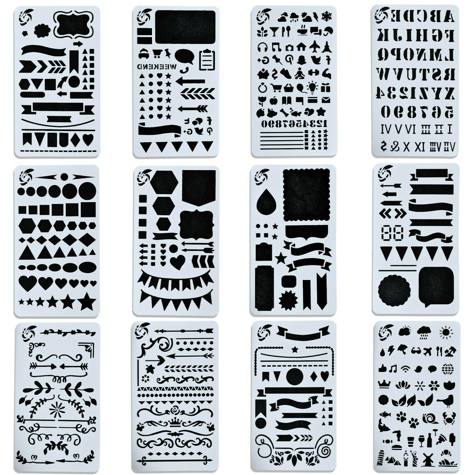 journal stencil set for bullet planning drawing