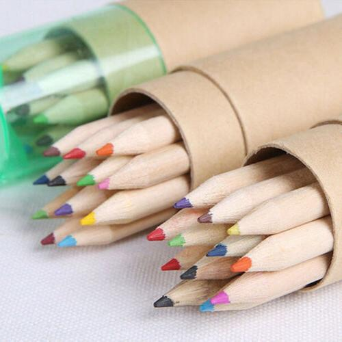Kids Wooden 12 Colors Pencils Writing Painting Colored Penci
