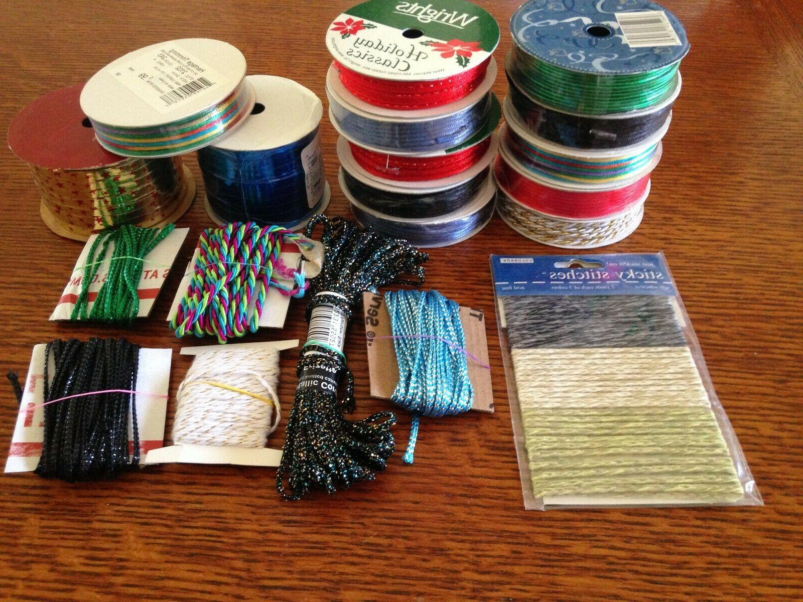 mixed lot of misc arts crafts supplies