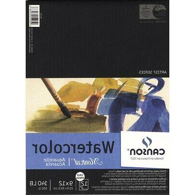 Canson Montval Watercolor Paper 9 in. x 12 in. pad of 12 140