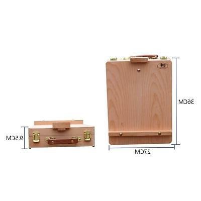 Portable Easel Drawer Wood Stand Art Painting